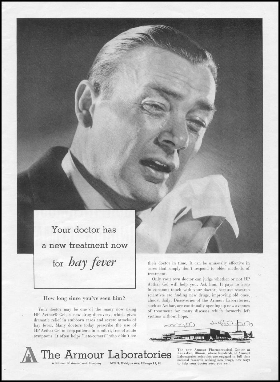 HAY FEVER MEDICATION TIME 08/17/1953 p. 43