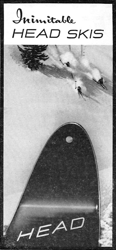 HEAD SKIS SPORTS ILLUSTRATED 01/12/1959