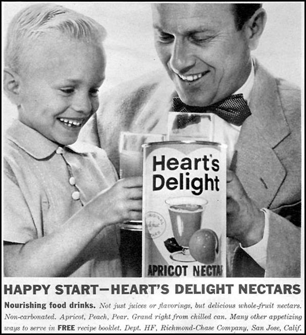 HEART'S DELIGHT FRUIT NECTARS FAMILY CIRCLE 02/01/1958 p. 62