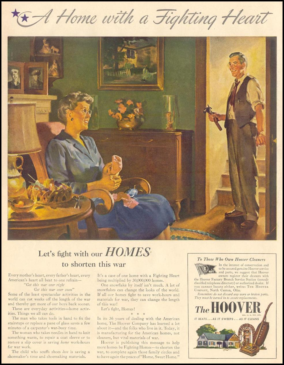 HOOVER VACUUM CLEANERS LIFE 11/08/1943