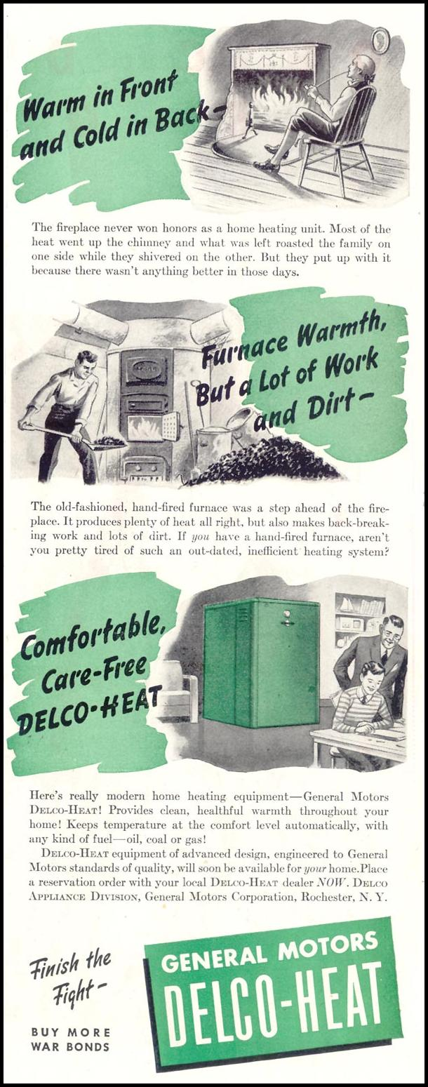 DELCO-HEAT FURNACES SATURDAY EVENING POST 10/06/1945 p. 41