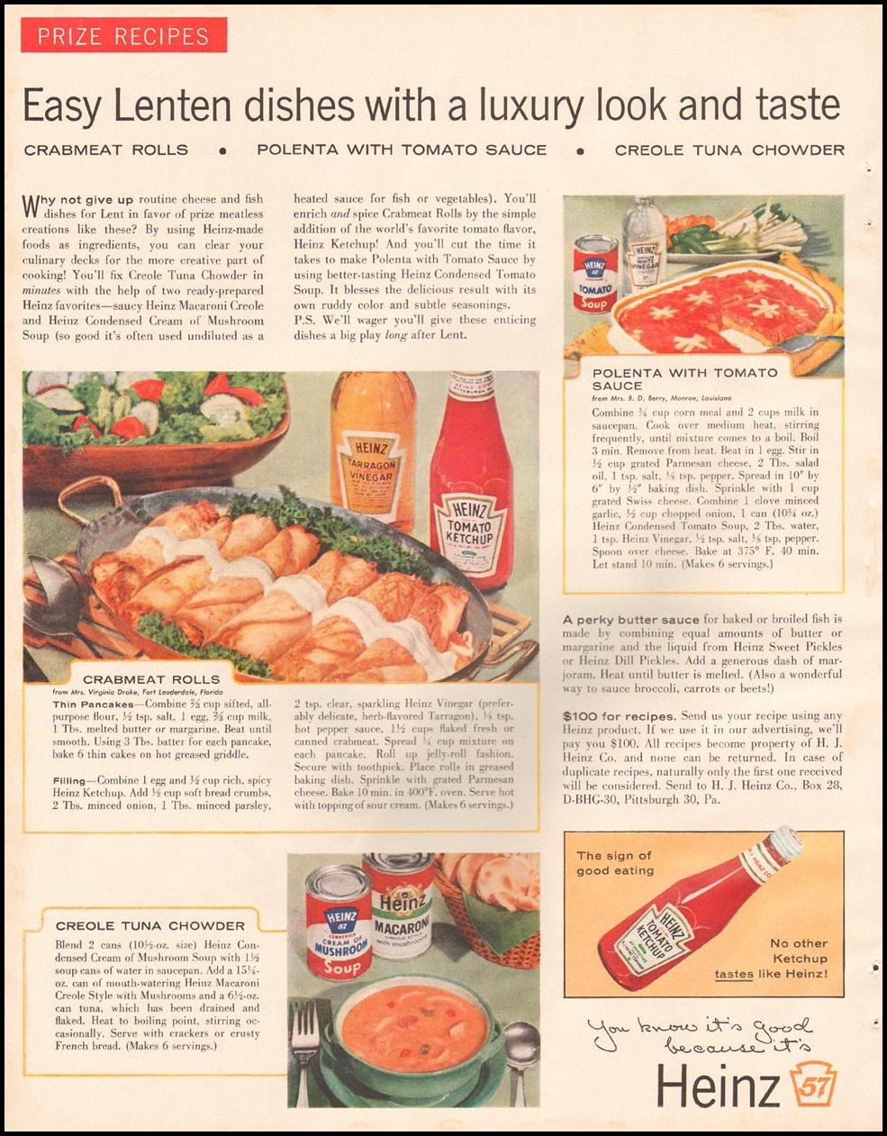 HEINZ FOODS BETTER HOMES AND GARDENS 03/01/1960