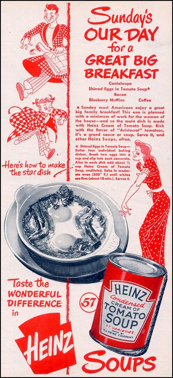 HEINZ SOUPS WOMAN'S DAY 09/01/1948 p. 105