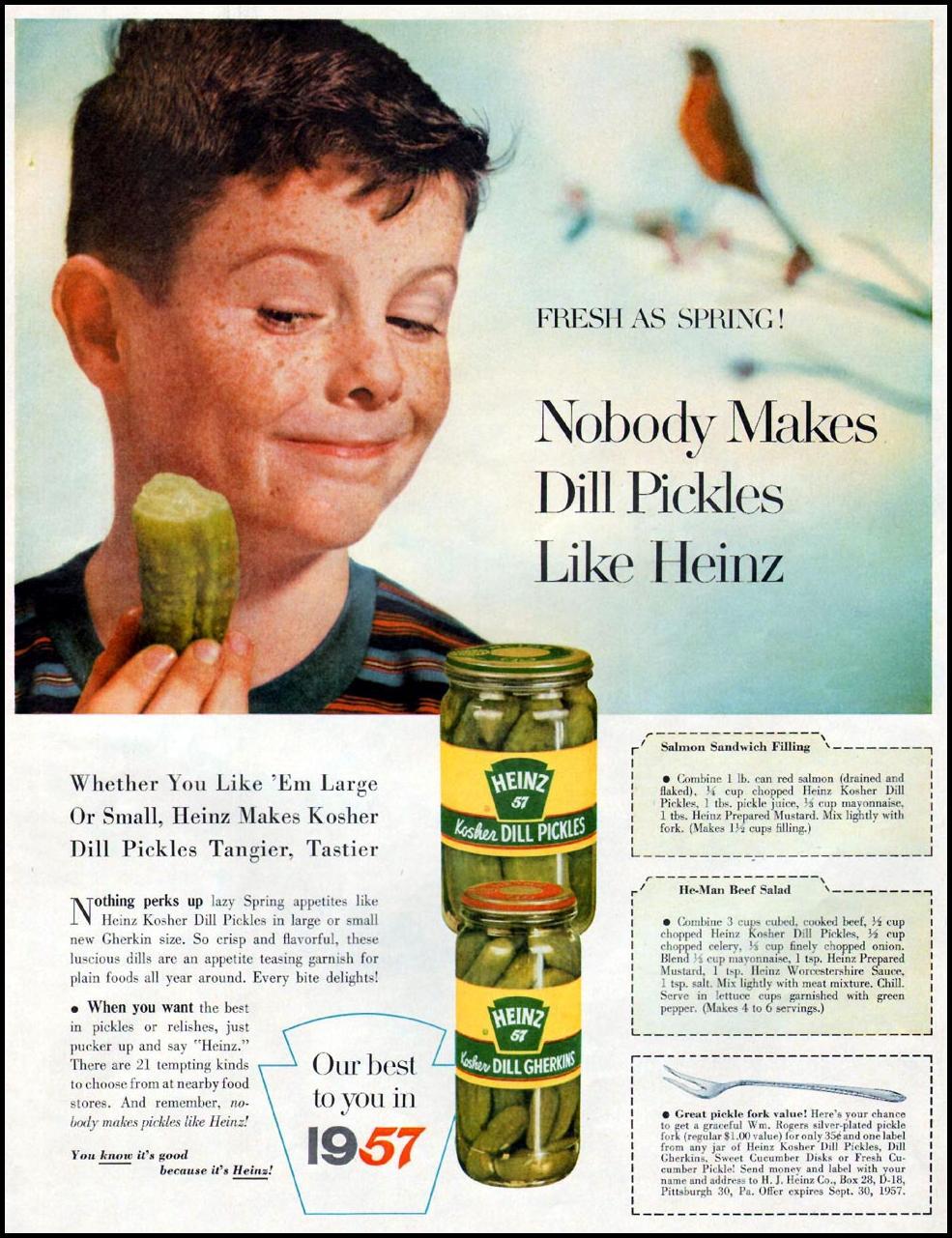 HEINZ PICKLES LIFE 04/01/1957 p. 55