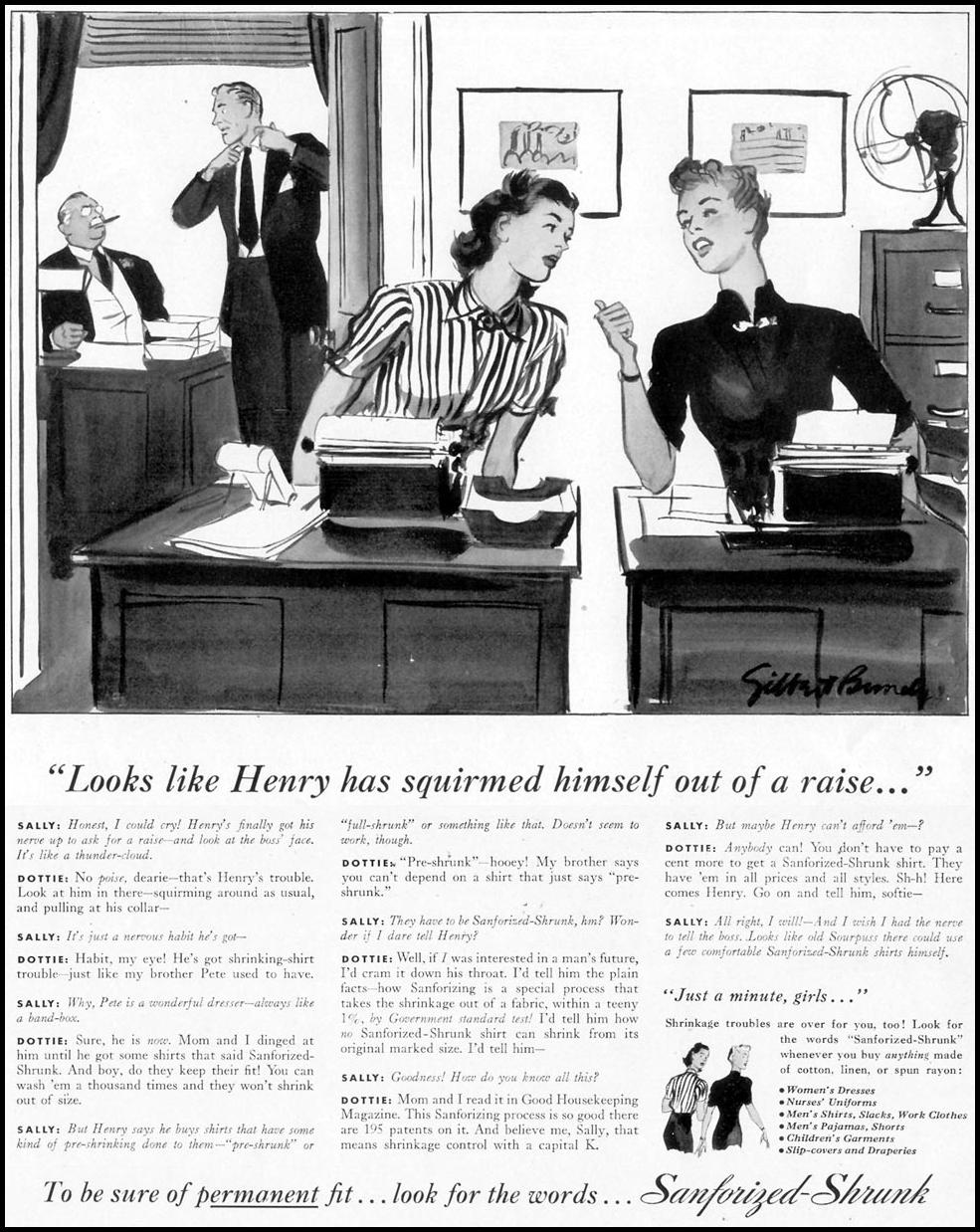 SANFORIZED-SHRUNK SHIRTS LIFE 12/12/1938 p. 10