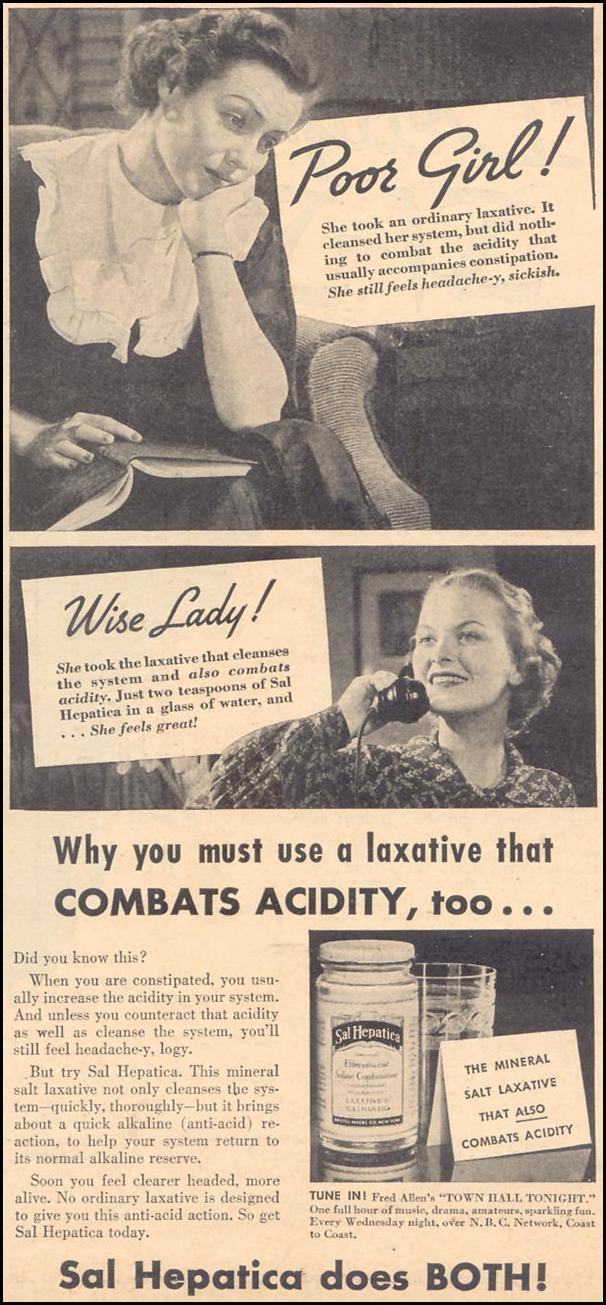 SAL HEPATICA LAXATIVE LIBERTY 04/11/1936 p. 17