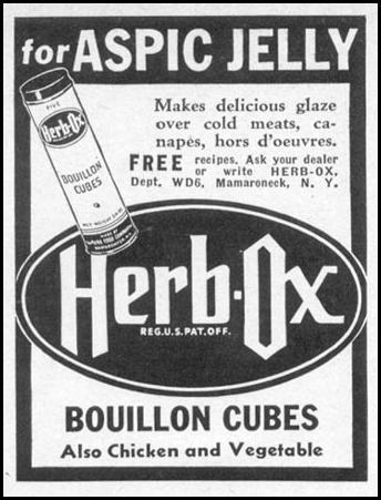 HERB-OX BOUILLON CUBES WOMAN'S DAY 06/01/1941 p. 51