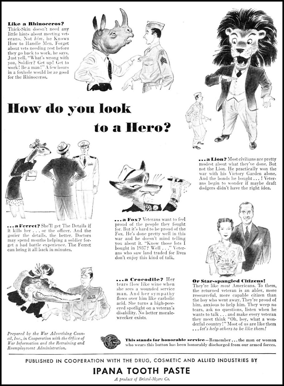 WARTIME MORALE WOMAN'S DAY 07/01/1945 p. 1