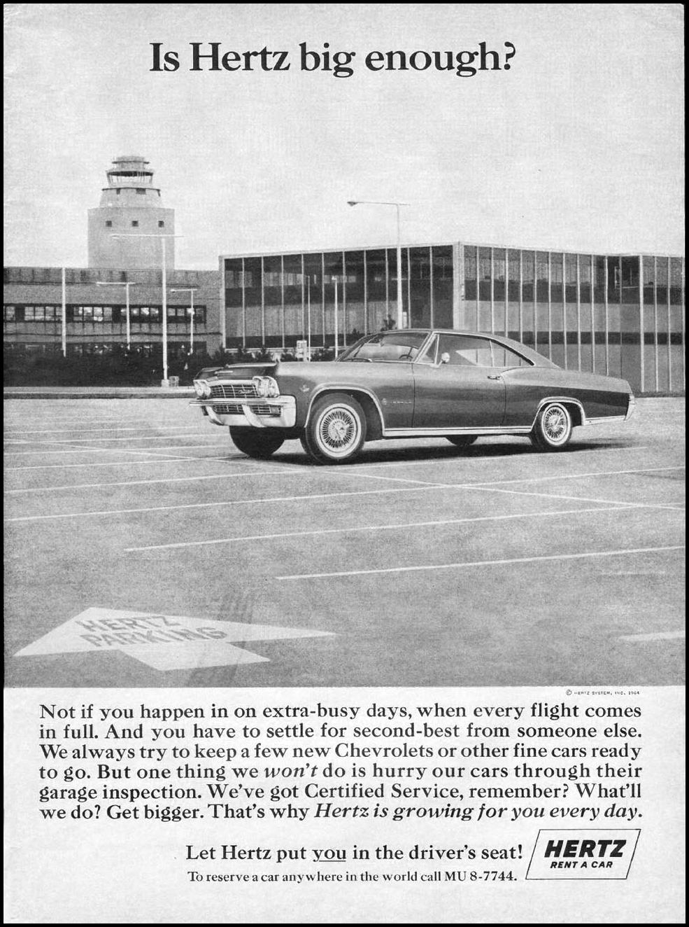 AUTOMOBILE RENTAL NEWSWEEK 10/12/1964