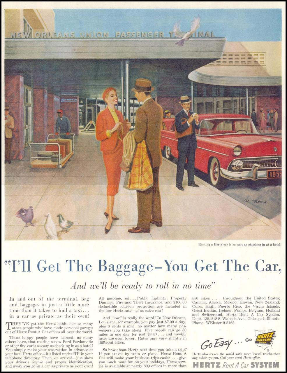 AUTO RENTAL SATURDAY EVENING POST 03/26/1955 p. 128