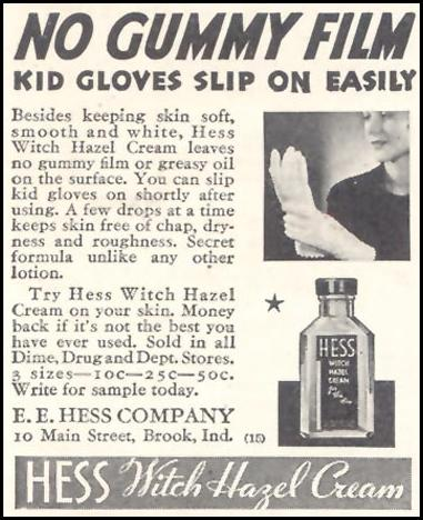 HESS WITCH HAZEL CREAM GOOD HOUSEKEEPING 11/01/1933 p. 212
