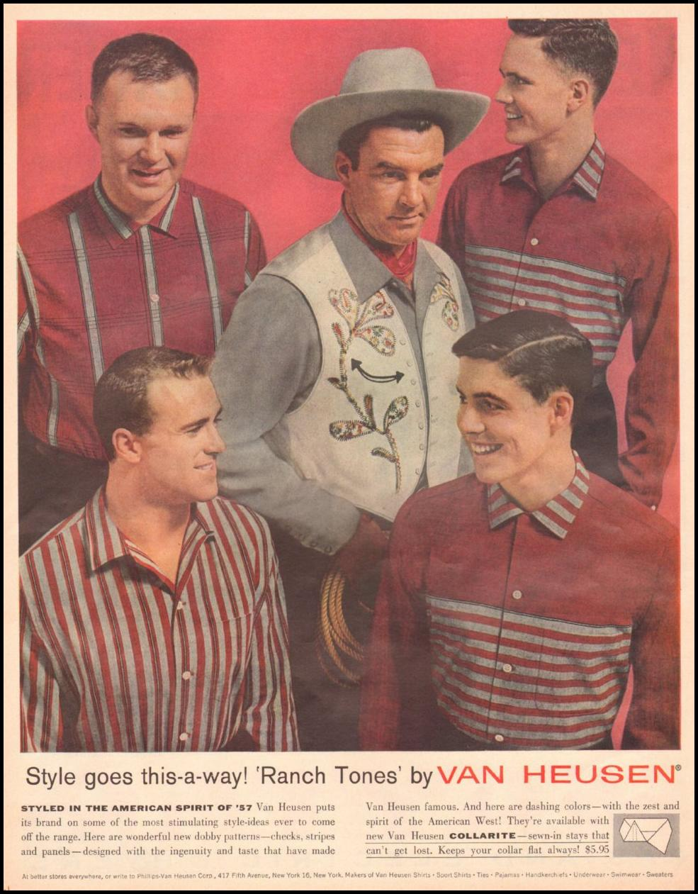 VAN HEUSEN RANCH-TONES SHIRTS LOOK 10/29/1957 p. 92
