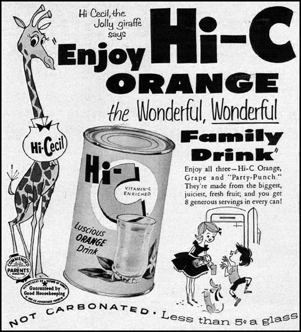 HI-C FRUIT DRINK GOOD HOUSEKEEPING 05/01/1957 p. 242