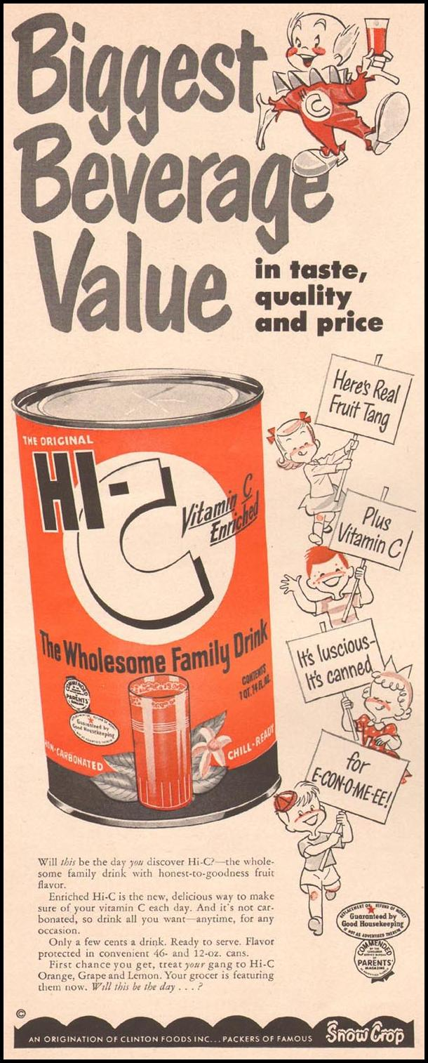 HI-C FRUIT DRINK LIFE 07/02/1951 p. 42