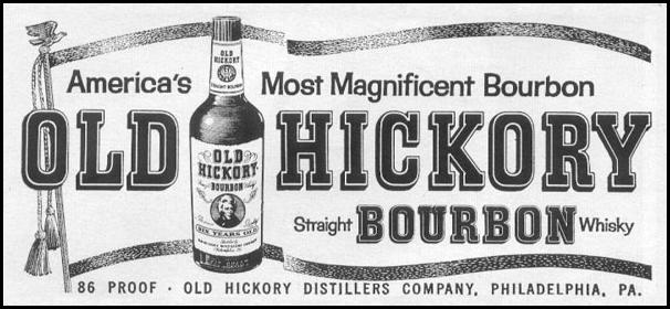 OLD HICKORY STRAIGHT BOURBON WHISKY LIFE 12/14/1959 p. 124