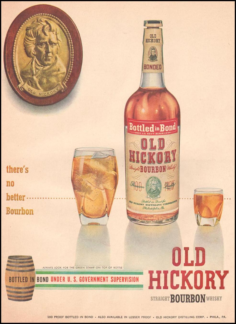 OLD HICKORY STRAIGHT BOURBON WHISKEY LIFE 07/02/1951 p. 67