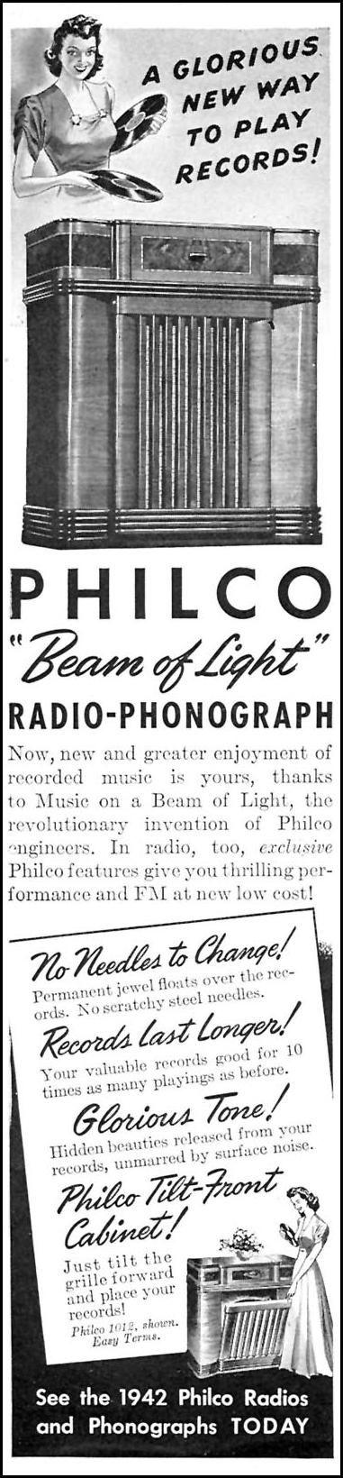PHILCO PHOTO-ELECTRIC RADIO-PHONOGRAPHS TIME 01/12/1942 p. 2