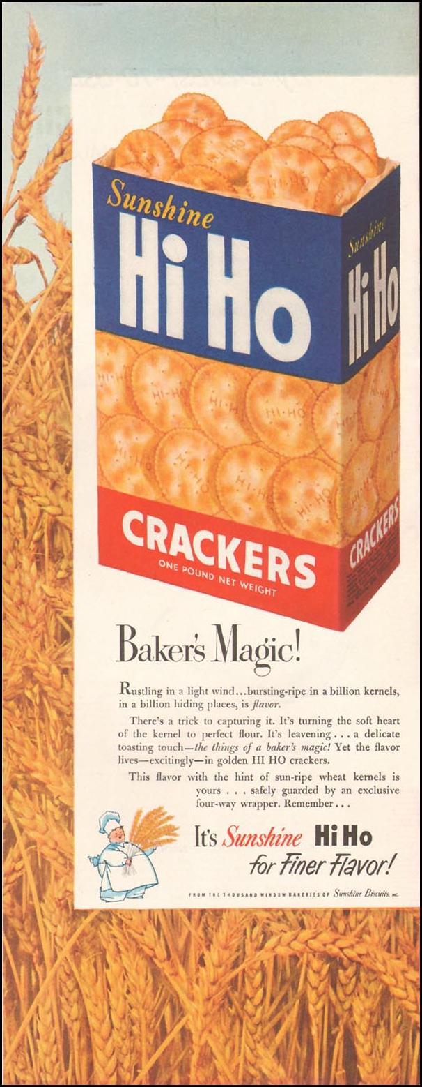 HI HO CRACKERS LADIES' HOME JOURNAL 11/01/1950 p. 219