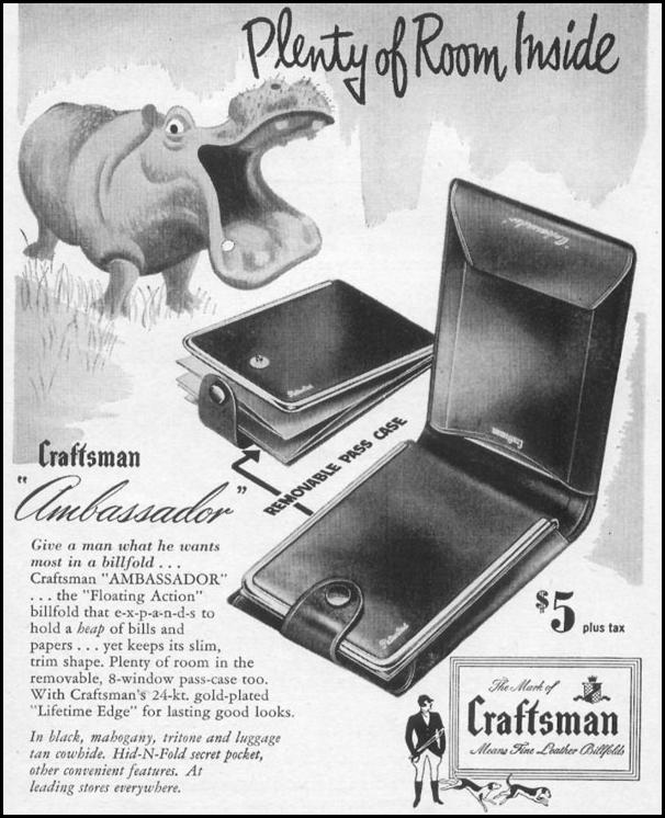 CRAFTSMAN LEATHER BILLFOLD LIFE 06/05/1950 p. 126