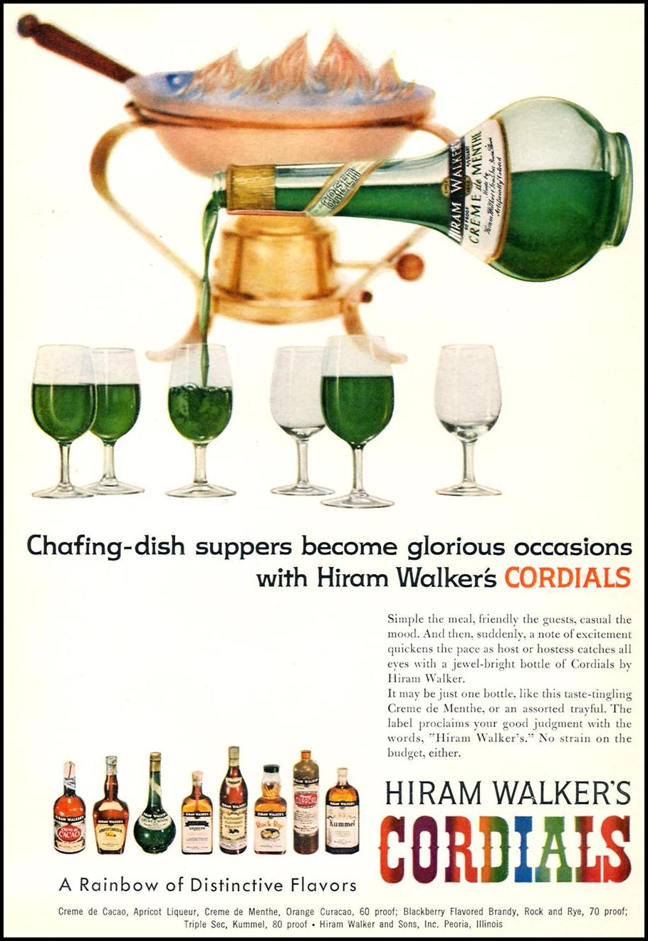 HIRAM WALKER'S CORDIALS SPORTS ILLUSTRATED 05/25/1959 p. 46