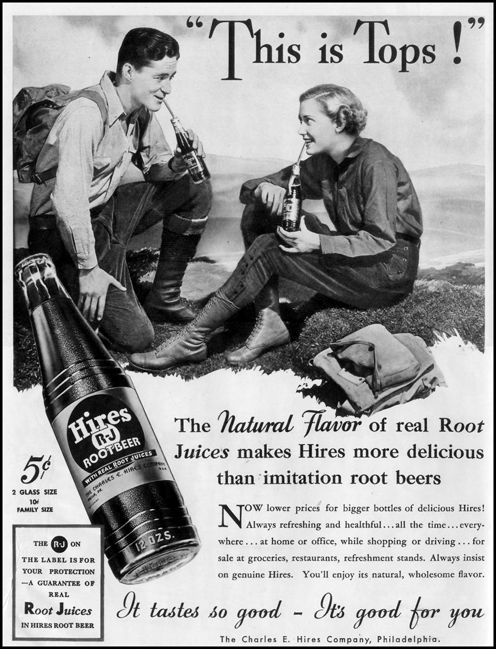 HIRES ROOT BEER LIFE 10/03/1937 p. 136