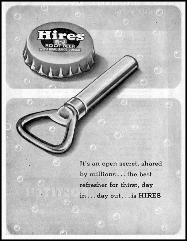 HIRES ROOT BEER SATURDAY EVENING POST 05/19/1945 p. 92