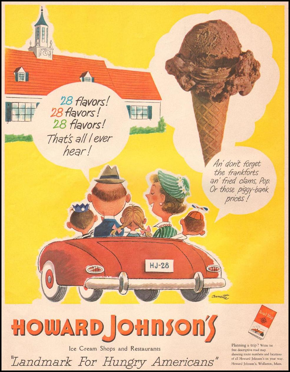 HOWARD JOHNSON'S RESTAURANTS AND MOTOR LODGES LIFE 07/02/1951 p. 102