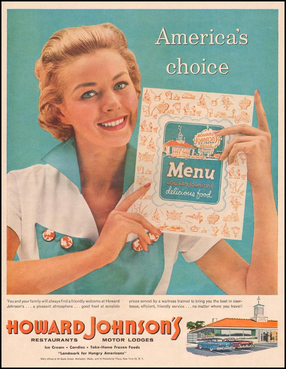 HOWARD JOHNSON'S RESTAURANTS AND MOTOR LODGES LIFE 09/15/1958