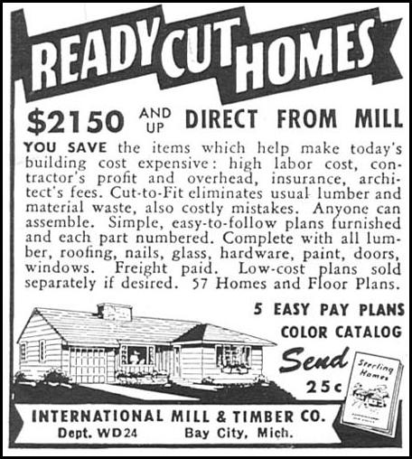 READY CUT HOMES WOMAN'S DAY 02/01/1954 p. 178