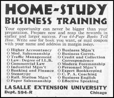 HOME-STUDY BUSINESS TRAINING NEWSWEEK 05/04/1935 p. 37