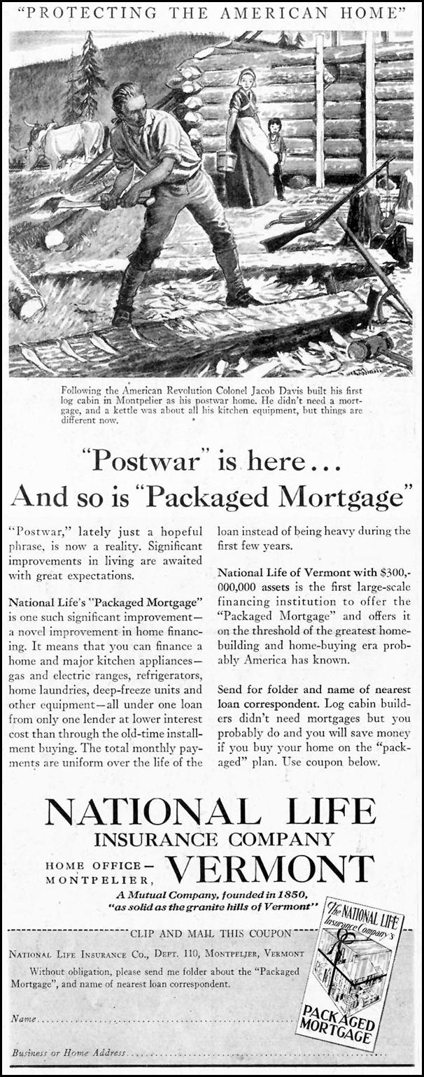PACKAGED MORTGAGE SATURDAY EVENING POST 10/06/1945 p. 54