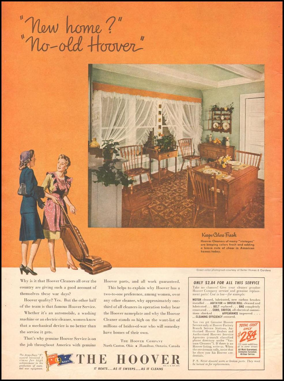 HOOVER VACUUM CLEANERS LIFE 11/13/1944 p. 10