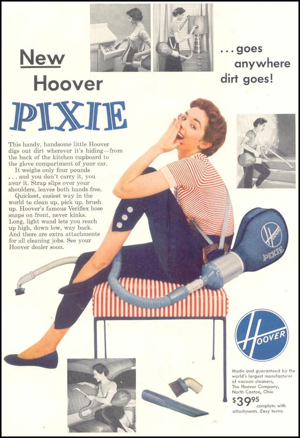 HOOVER PIXIE VACUUM CLEANER SATURDAY EVENING POST 04/09/1955 p. 71