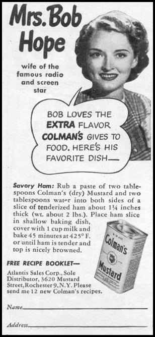 COLMAN'S MUSTARD WOMAN'S DAY 11/01/1945 p. 112
