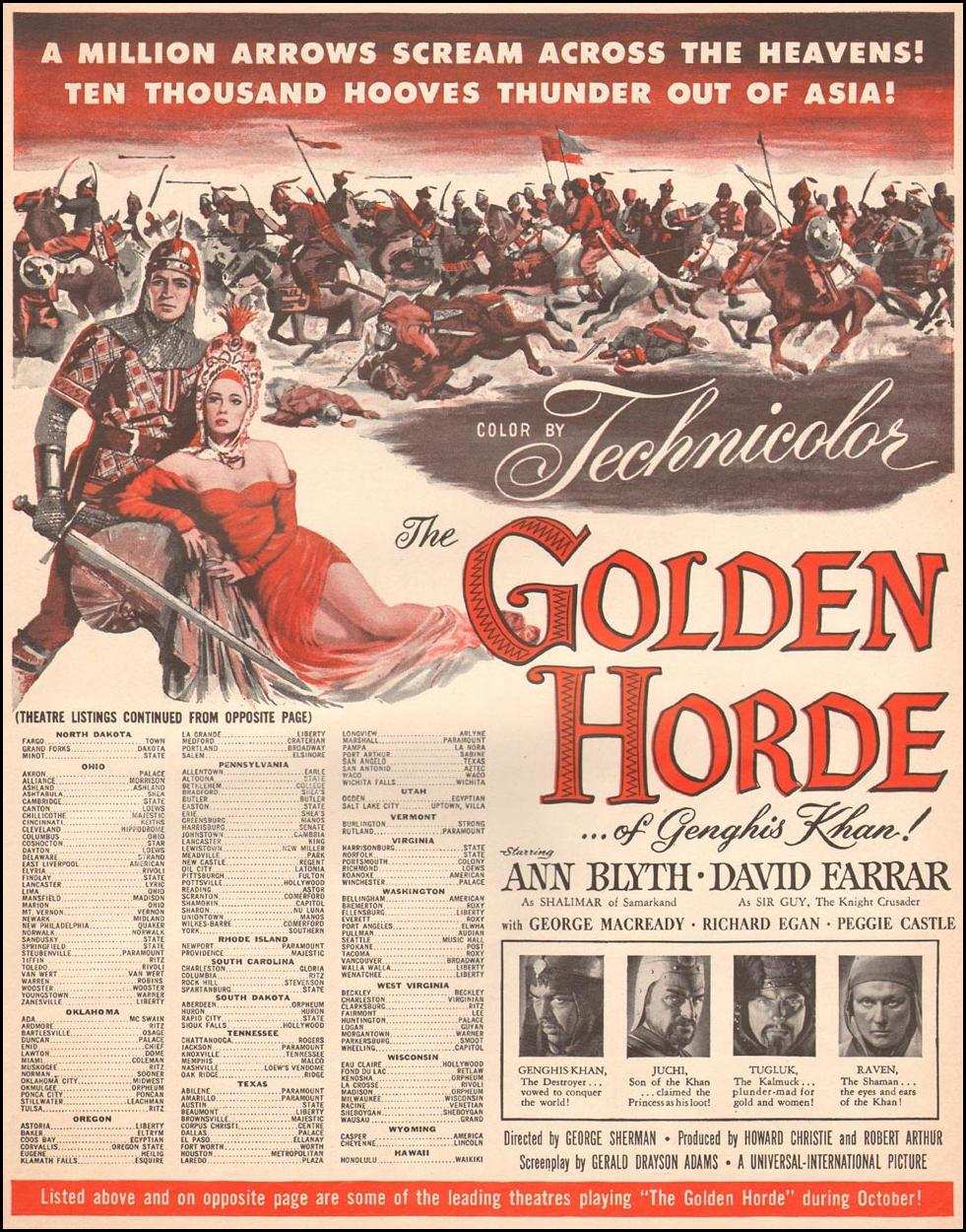 THE GOLDEN HORDE OF GENGHIS KHAN