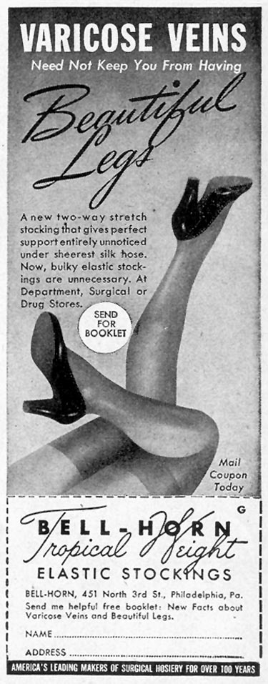 BELL-HORN TROPICAL NIGHT ELASTIC STOCKINGS LIFE 02/28/1944 p. 96