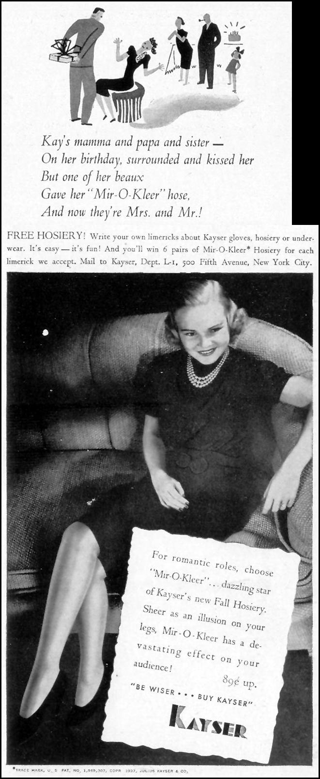 MIR-O-KLEER HOSIERY LIFE 09/20/1937 p. 21