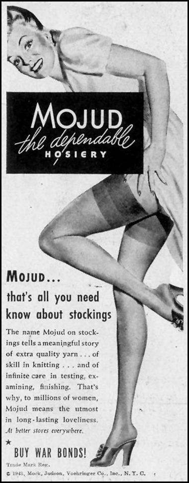 MOJUD HOSIERY LIFE 11/08/1943 p. 124