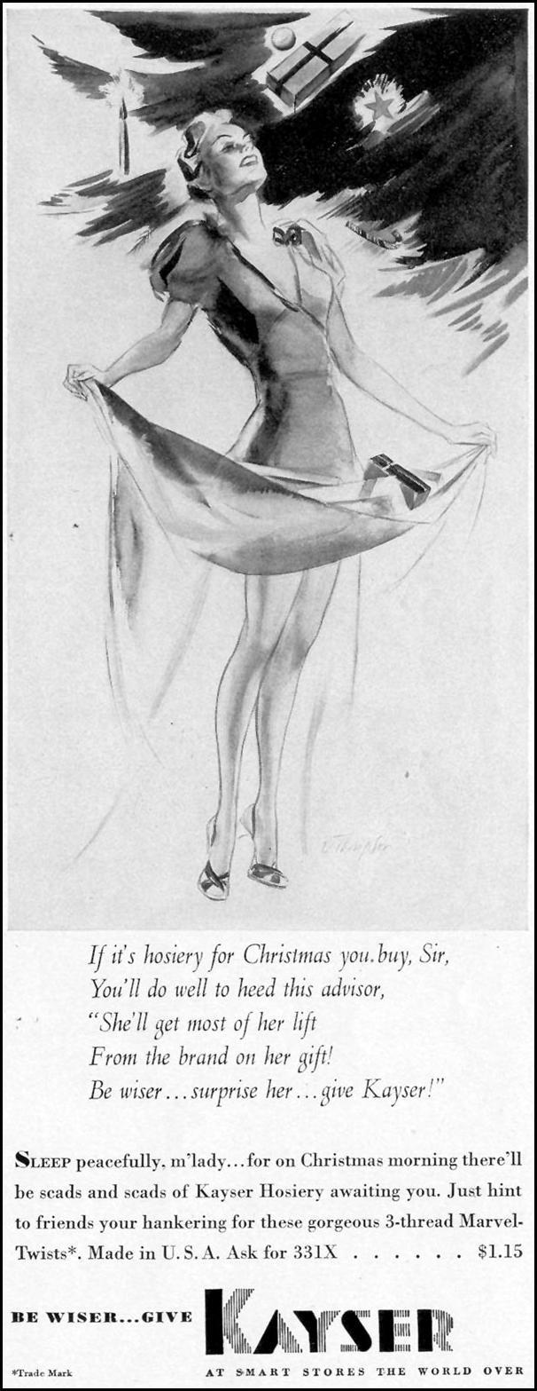 KAYSER HOSIERY LIFE 12/12/1938 p. 11