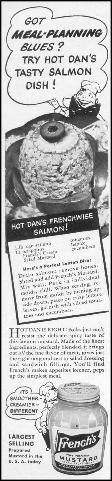 FRENCH'S PREPARED MUSTARD WOMAN'S DAY 04/01/1941 p. 70