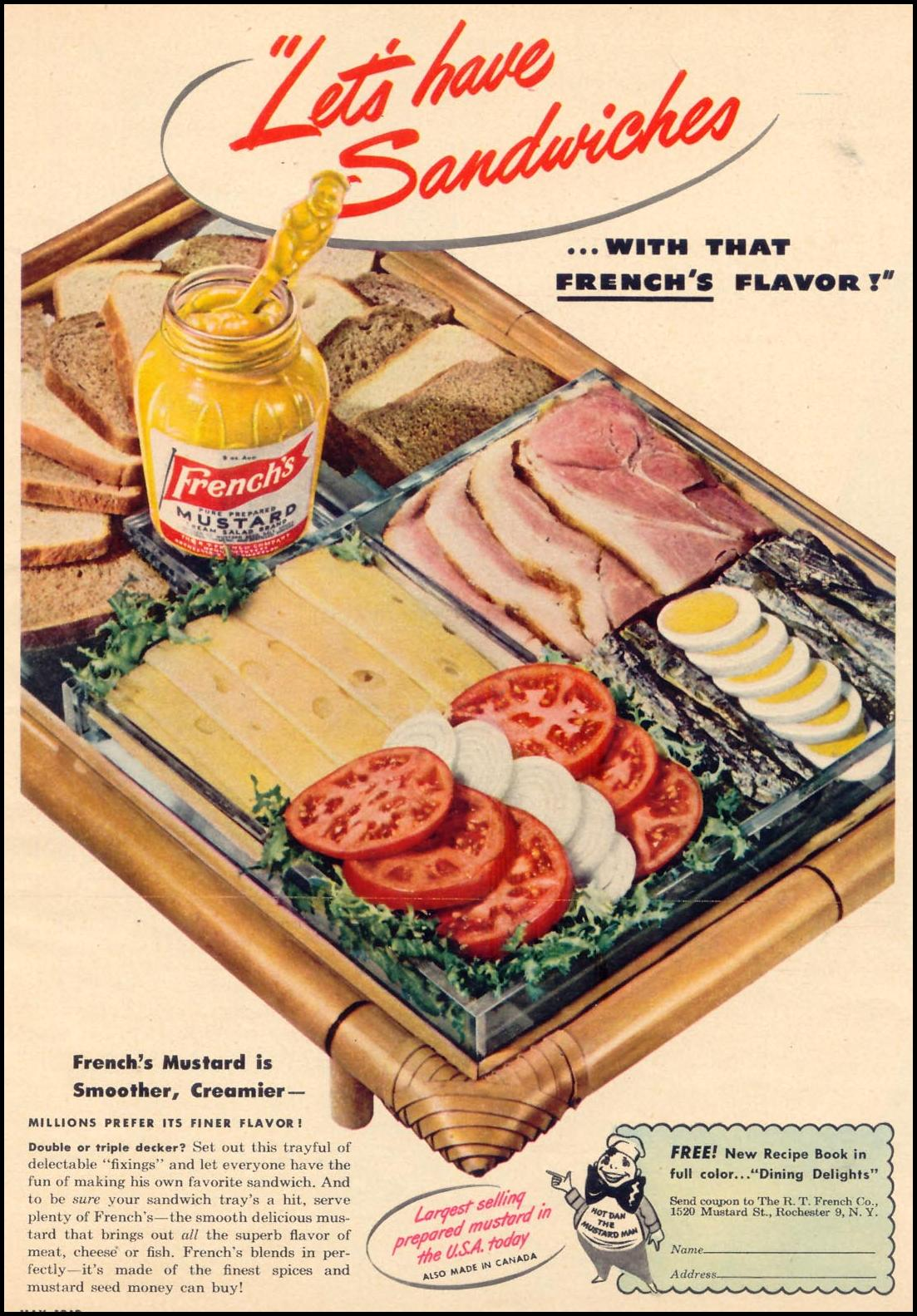 FRENCH'S PREPARED MUSTARD WOMAN'S DAY 05/01/1946 p. 25