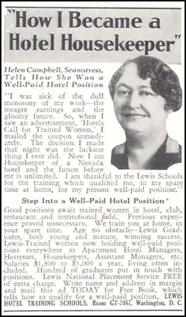 HOTEL TRAINING GOOD HOUSEKEEPING 11/01/1933 p. 206