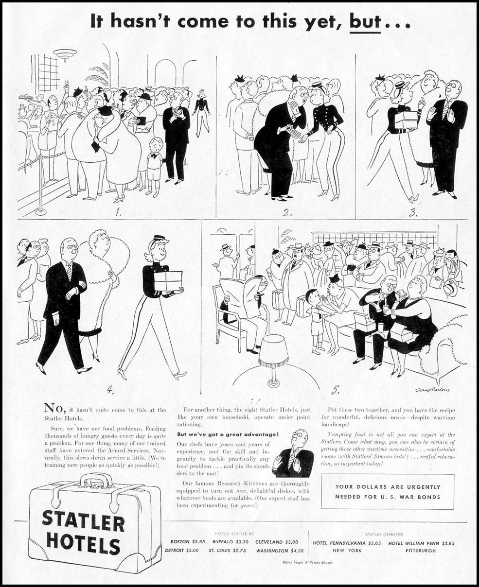 STATLER HOTELS LIFE 11/08/1943 p. 43