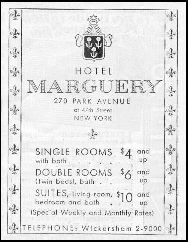 HOTEL MARGUERY NEWSWEEK 05/04/1935 p. 37