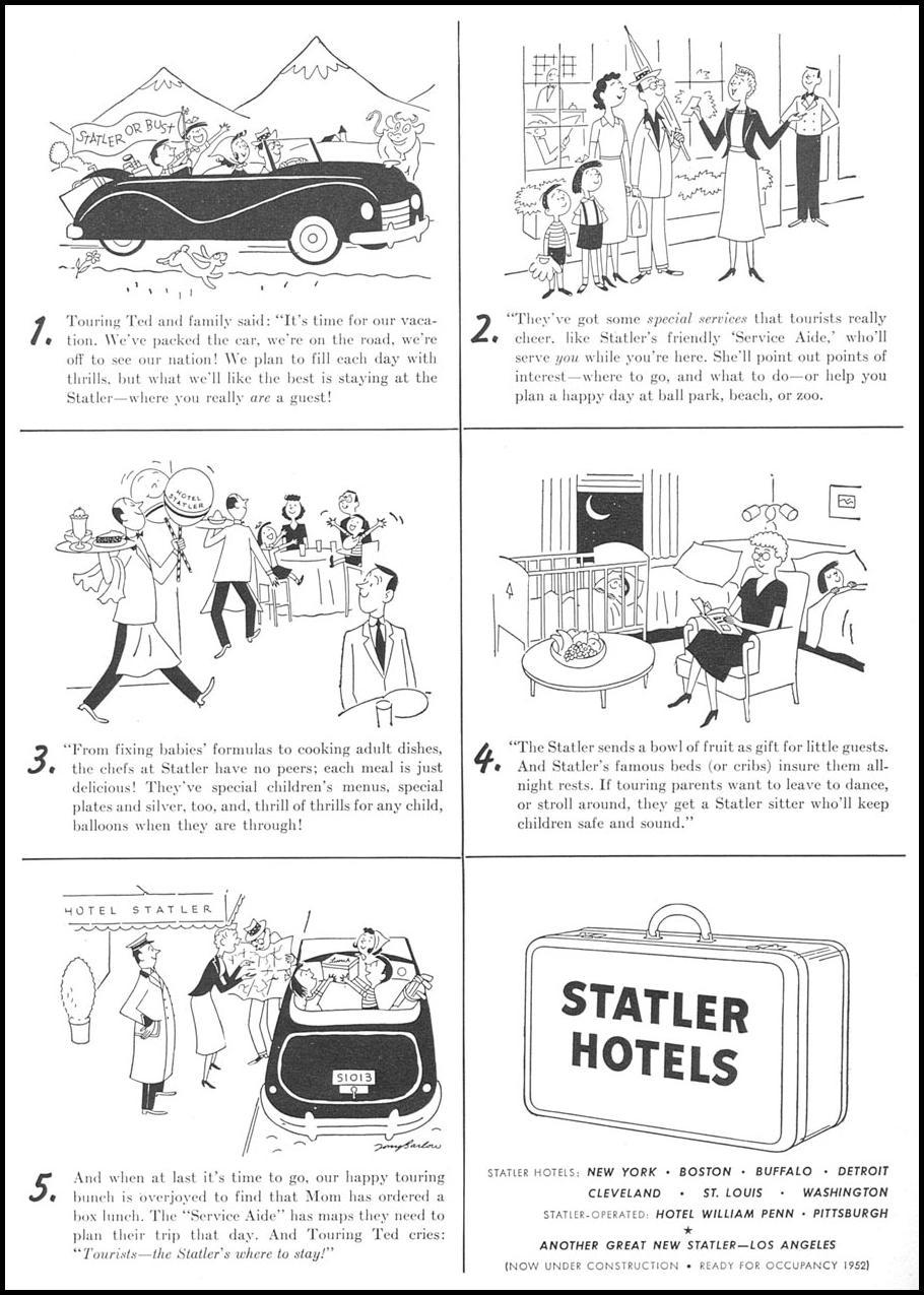 STATLER HOTELS NEWSWEEK 06/11/1951 p. 22