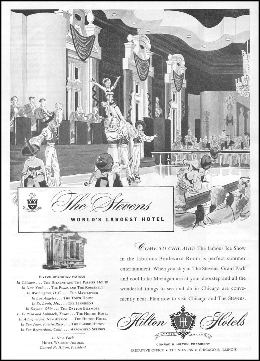 THE STEVENS HOTEL - CHICAGO NEWSWEEK 08/20/1951 p. 4