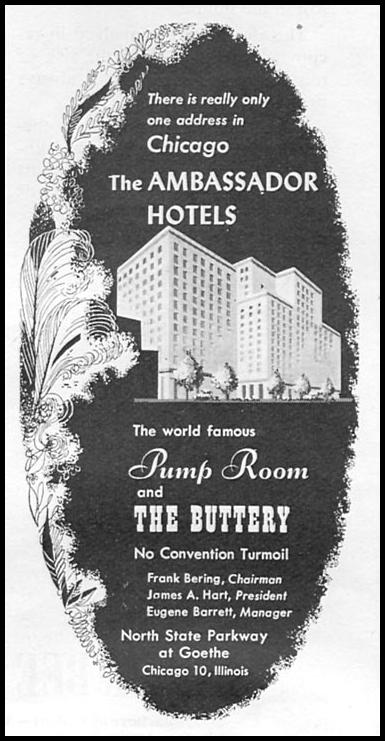 THE CHICAGO AMBASSADOR HOTEL NEWSWEEK 08/20/1951 p. 72