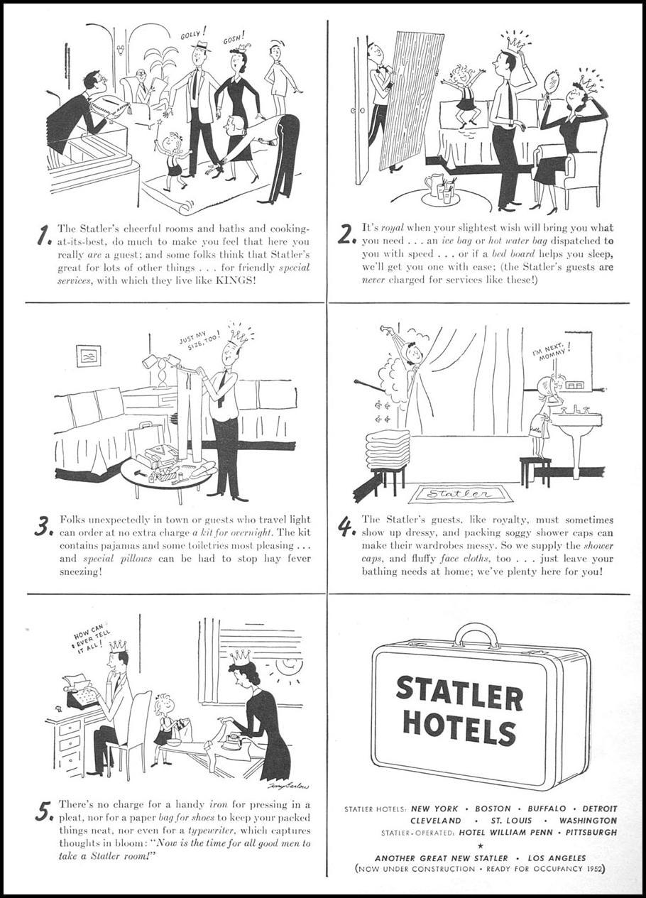 STATLER HOTELS NEWSWEEK 09/03/1951 p. 12