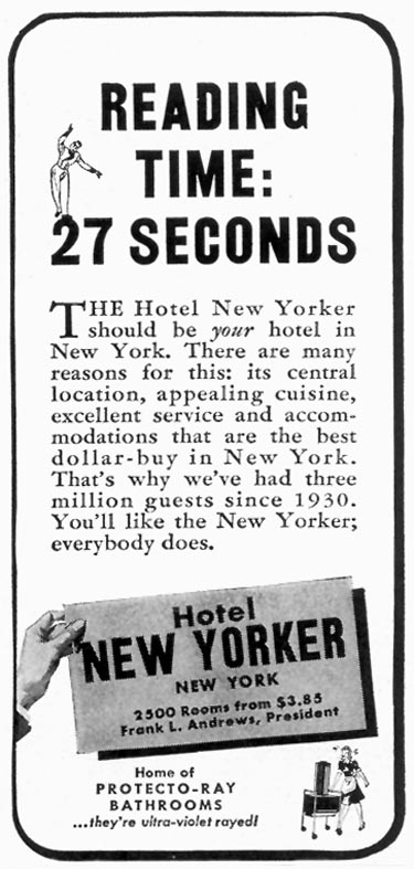 HOTEL NEW YORKER TIME 06/15/1942 p. 64