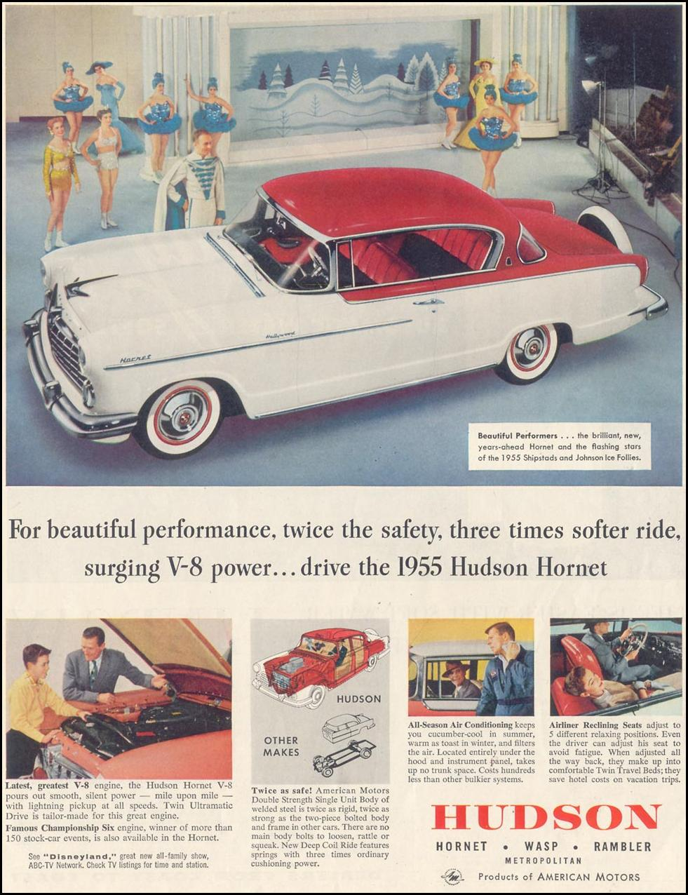 HUDSON AUTOMOBILES SATURDAY EVENING POST 04/09/1955 p. 79
